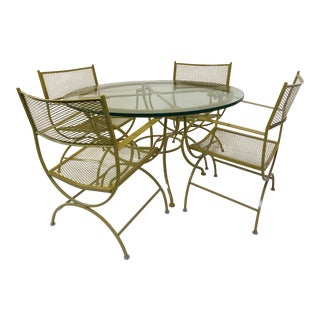 5-Piece Vintage Diamond Patio Set For Sale