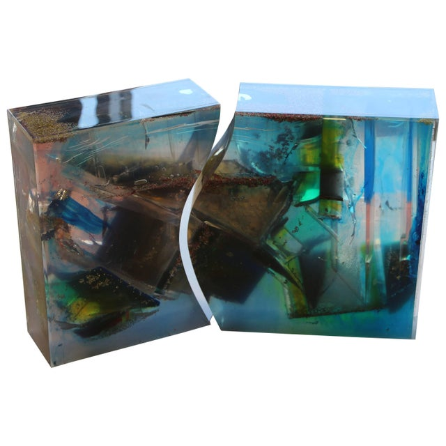 Bijan Bahar Lucite and Epoxy Resin Sculpture Yin Yang For Sale - Image 10 of 10
