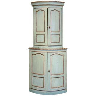 19th Century Shabby Chic Painted Corner Cupboard