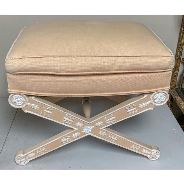 Italian Italian Painted Venetian X-Bench For Sale - Image 3 of 4