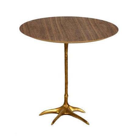 Danish Modern Walnut Flamingo Side Table For Sale - Image 4 of 4