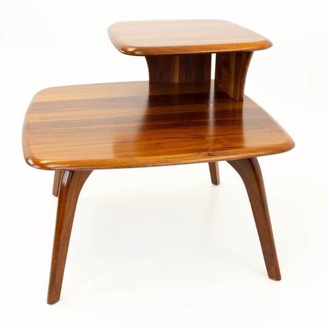 Mid-Century Modern Mid CenturyModern Walnut Corner Side Table For Sale - Image 3 of 10