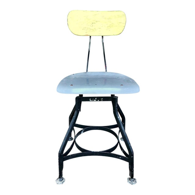 Astonishing 1940S Vintage Toledo Uhl Art Steel Drafting Stool Caraccident5 Cool Chair Designs And Ideas Caraccident5Info