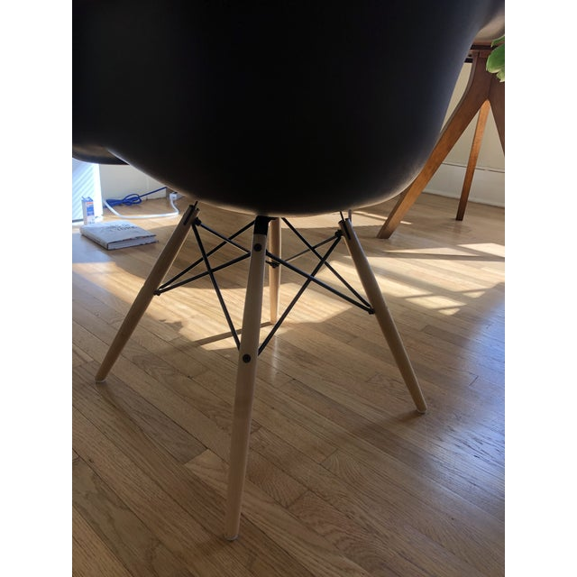 Wood Eames Molded Plastic Armchair With Dowel Base For Sale - Image 7 of 10