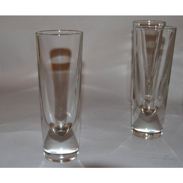 1980s Set of 8 Carlo Moretti Modern Heavy Blown Glass Drinking Glasses Glassware Italy For Sale - Image 5 of 11