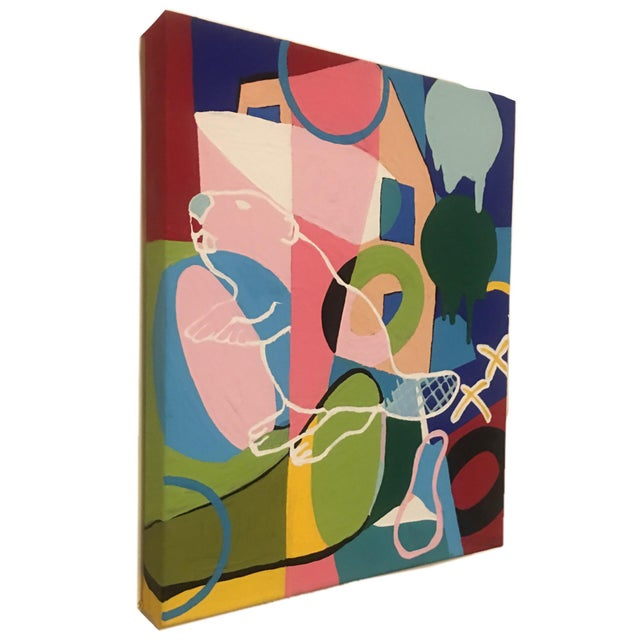 Give your home an air of playfulness with a one-of-a-kind piece of pop art! I created this painting using professional...