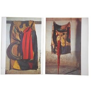 Vintage Mid 20th C. Quadrichrome Photographic Prints-Derriere Le Miroir-Miro-Tapestries-A Pair For Sale