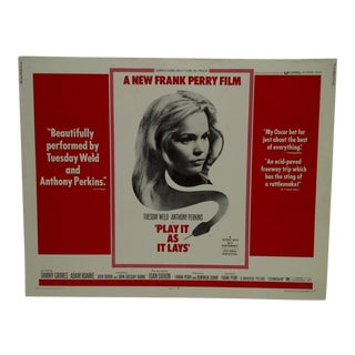 "Vintage ""Play It as It Lays"" Movie Poster For Sale"