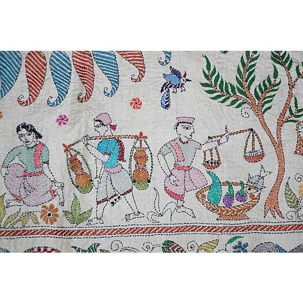 White Silk Kantha by Sreelata Sarkar For Sale - Image 8 of 8