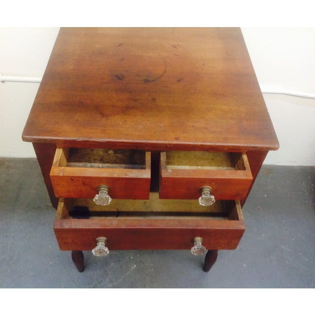 3-Drawer Spindle-Leg Side Table - Image 4 of 5