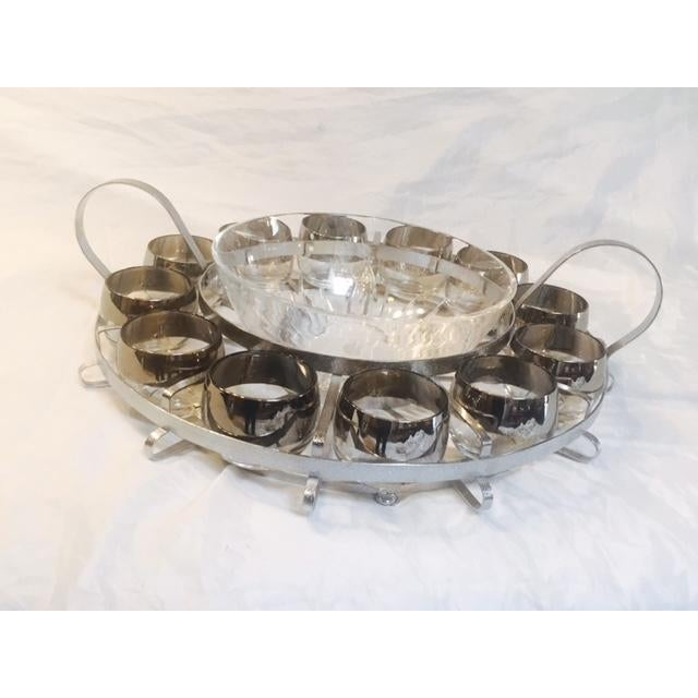 14-Piece Mid-Century Glass Punch Bowl Set - Image 4 of 5