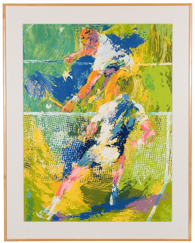 what is the height of kitchen cabinets tennis players serigraph by leroy neiman chairish 9863