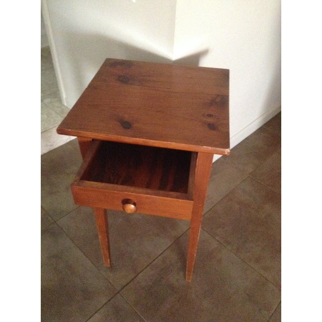 Handcrafted Pennsylvania Shaker Style Accent Table For Sale - Image 4 of 5