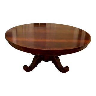 Zichele for Bloomingdales Round Maple and Walnut Dining Table For Sale