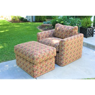 70s Cube Lounge Chair With Down Cushions and Ottoman Preview