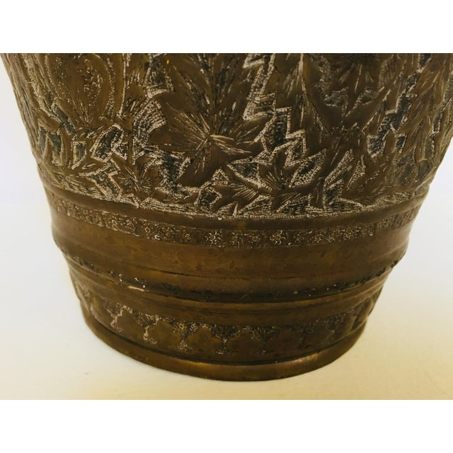 Anglo-Raj Mughal Bronzed Copper Vessel Bucket For Sale - Image 9 of 12