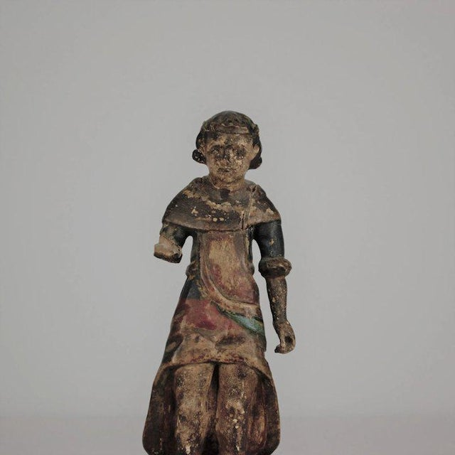 19th Century Carved Wood Youth For Sale In Denver - Image 6 of 13