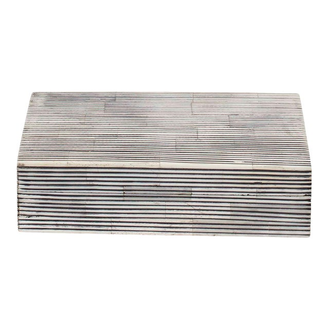 Curated Kravet Ran Bone Box, Small For Sale