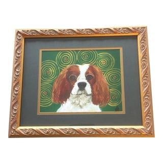 Judy Henn King Charles Spaniel Dog Print For Sale