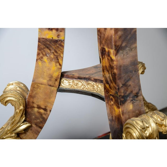 Early 21st Century Pair of Gilt and Faux Tortise Shell Planters For Sale - Image 5 of 8