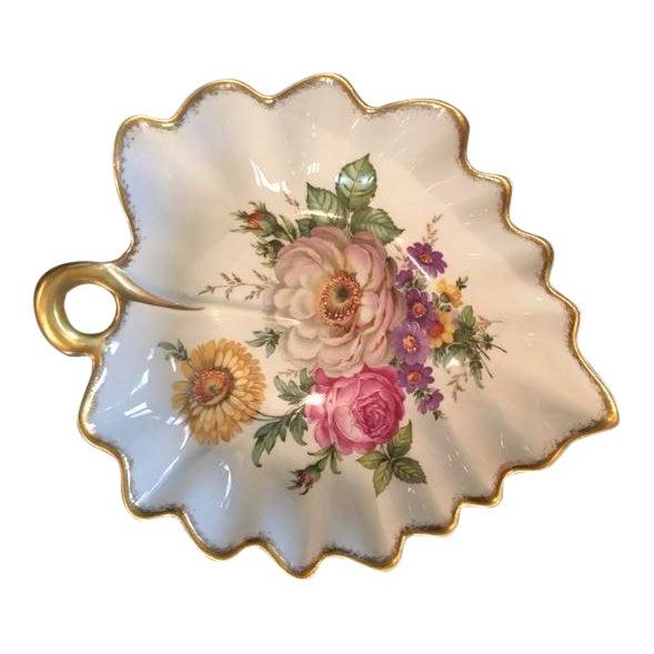 """Limoges France Leaf Bowl """"Pocelaine D'Art"""" - Image 1 of 3"""