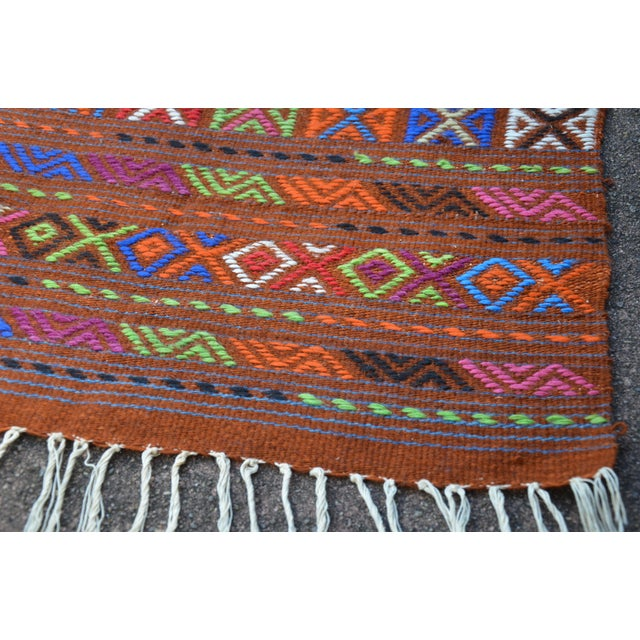 Peruvian Style Patterned Rug - 1′9″ × 4′3″ - Image 6 of 7