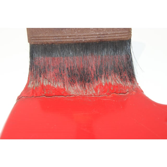 Red Vintage Geoffrey Rose Frozen Moments Pop Art Sculpture of a Paint Brush For Sale - Image 8 of 13