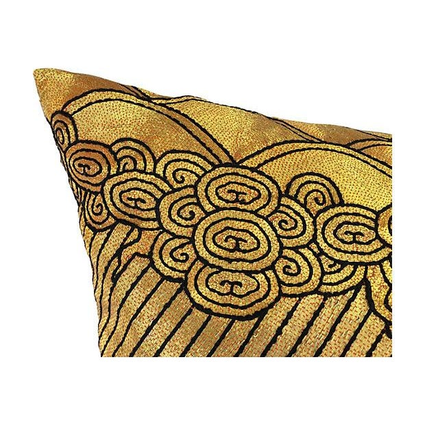 Gold Beijing Embroidered Opera Robe Pillow - Image 2 of 4