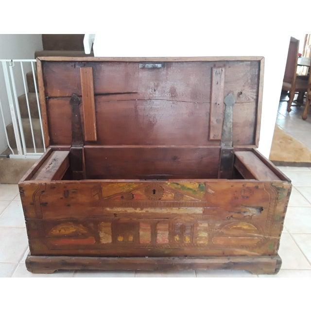 Teak 1980s Javanese Teak Wood Chest For Sale - Image 7 of 13