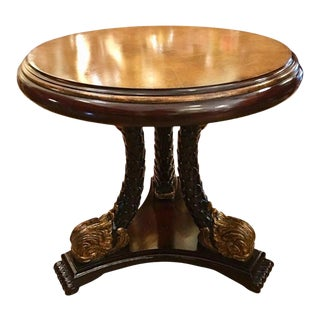 Venetian Style Serpent or Dolphin Leg Round Occasional or Center Table For Sale
