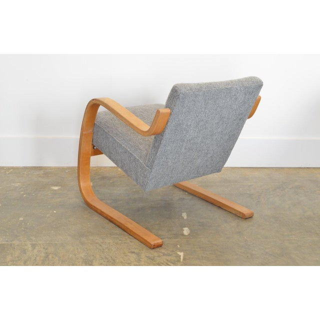 Alvar Aalto Alvar Aalto 34/402 Model Cantilever Chair in Pierre Frey For Sale - Image 4 of 7