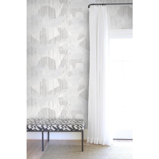 Contemporary Cloud Room Grey Wallpaper For Sale - Image 3 of 7