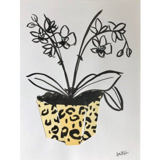 Orchids in Vase by Meg Britten Painting For Sale