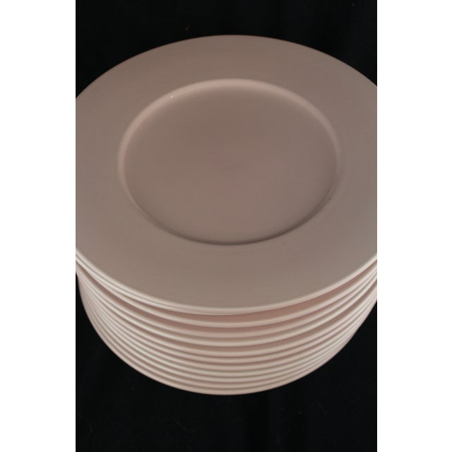 Mikasa Mid 20th Century Rose Pink Mikasa Chargers - Set of 12 For Sale - Image 4 of 9