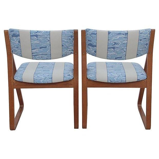 Waterwave Mid-century Dining Chairs - Set of 4 - Image 2 of 6