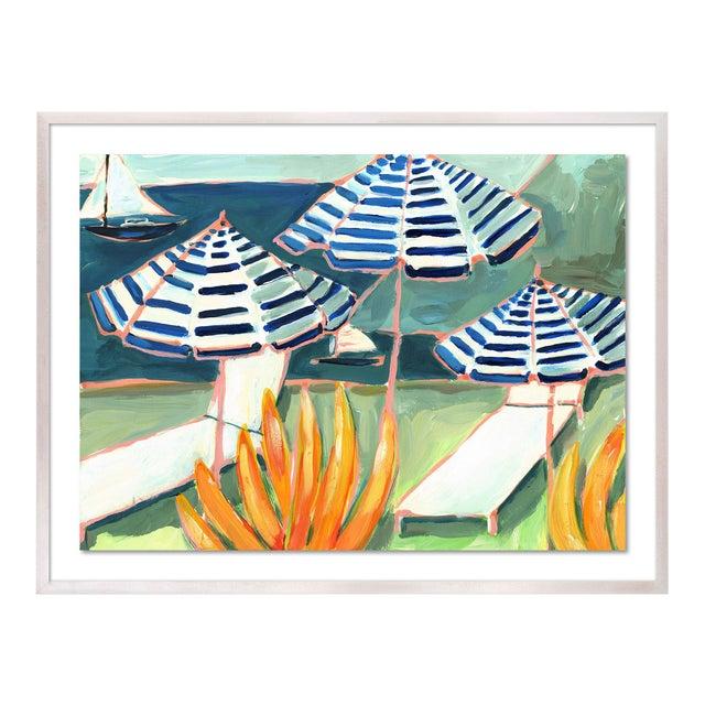 Cabana 5 by Lulu DK in White Wash Framed Paper, Medium Art Print For Sale