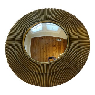 "Barbara Barry Brass ""Radiance"" Convex Starburst Sunburst Mirror For Sale"