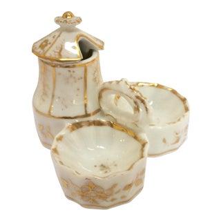 Antique Paris Porcelain Condiment Holder