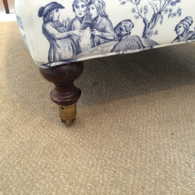 Brunschwig and Fils Toile Ottomans - Pair - Image 3 of 5