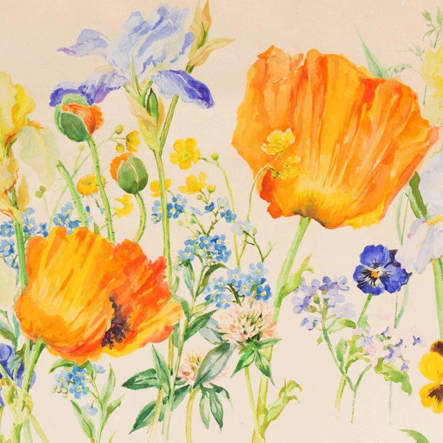 Traditional Grand Duchess Olga Alexandrovna Spring Flowers Circa 1935 For Sale - Image 3 of 9