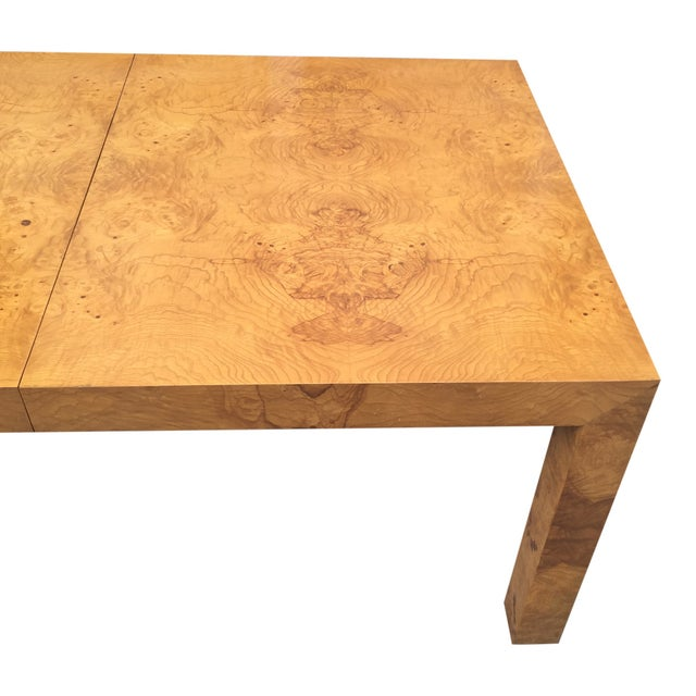 1970s Milo Baughman Burl Parsons Table For Sale - Image 5 of 10