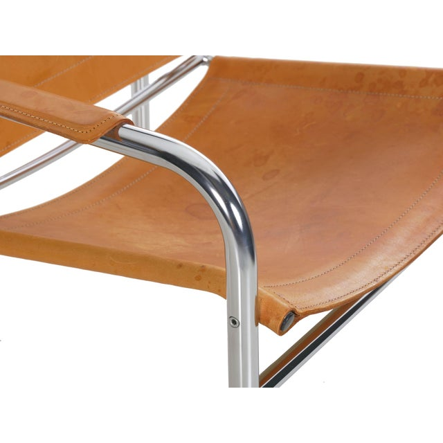 """Circa 1970s Vintage Chrome and Leather """"Klint"""" Arm Chairs by Tord Bjorklund - a Pair For Sale - Image 10 of 13"""