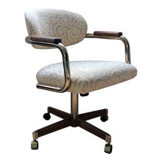 Chromcraft Brass Desk Chair