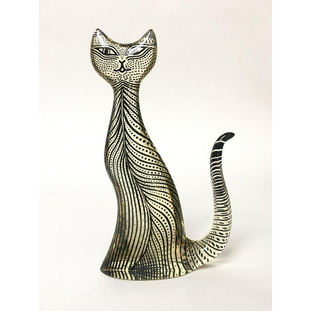 1970s Figurative Abraham Palatnik Op Art Lucite Cat Figure For Sale - Image 10 of 10