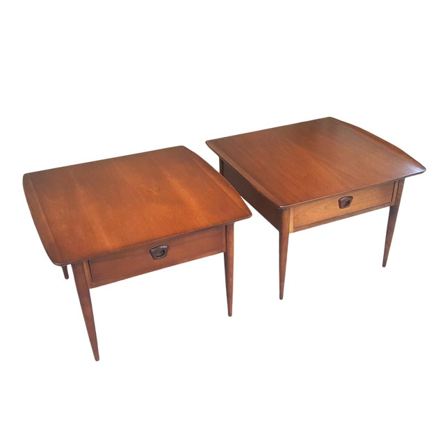 Bassett Mid-Century Modern Artisan End Tables - A Pair - Image 1 of 10