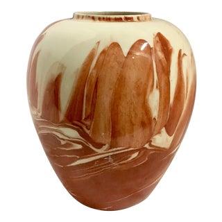 1980 Burnt Orange Ceramic Vase