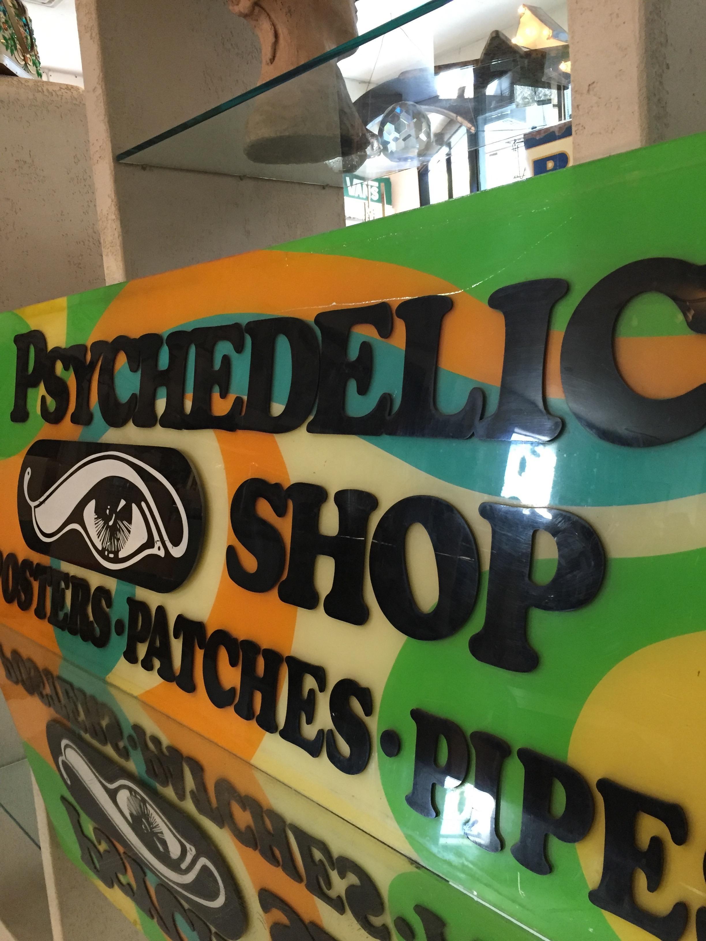Vintage Handcrafted San Francisco Lucite Psychedelic Shop Sign   Image 5 Of  10