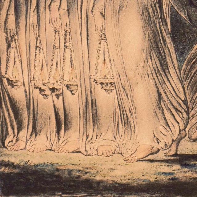 'The Parable of the Wise and Foolish Virgins' by William Blake, Proto-Symbolist Lithograph For Sale - Image 11 of 12