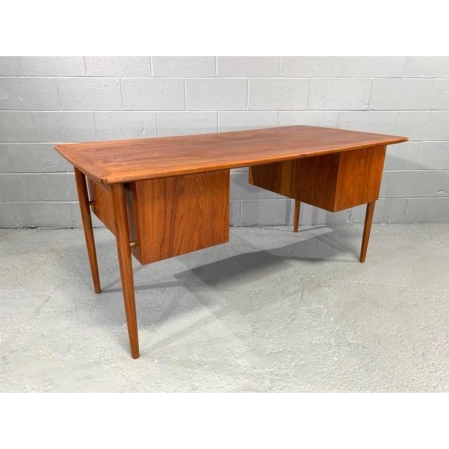 Kai Kristiansen Danish Modern Teak Desk Attributed to Kai Kristensen For Sale - Image 4 of 10