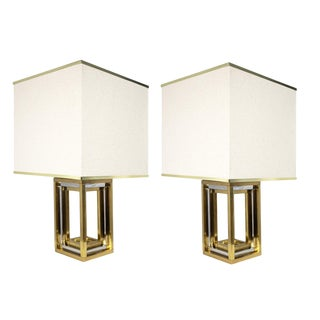 Contemporary Art Deco Style Rothko Table Lamps by Modern History With Shades - a Pair For Sale